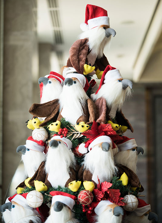 Wings of Hope, a Christmas tree of Philippine Eagle stuffed toys for less fortunate kids