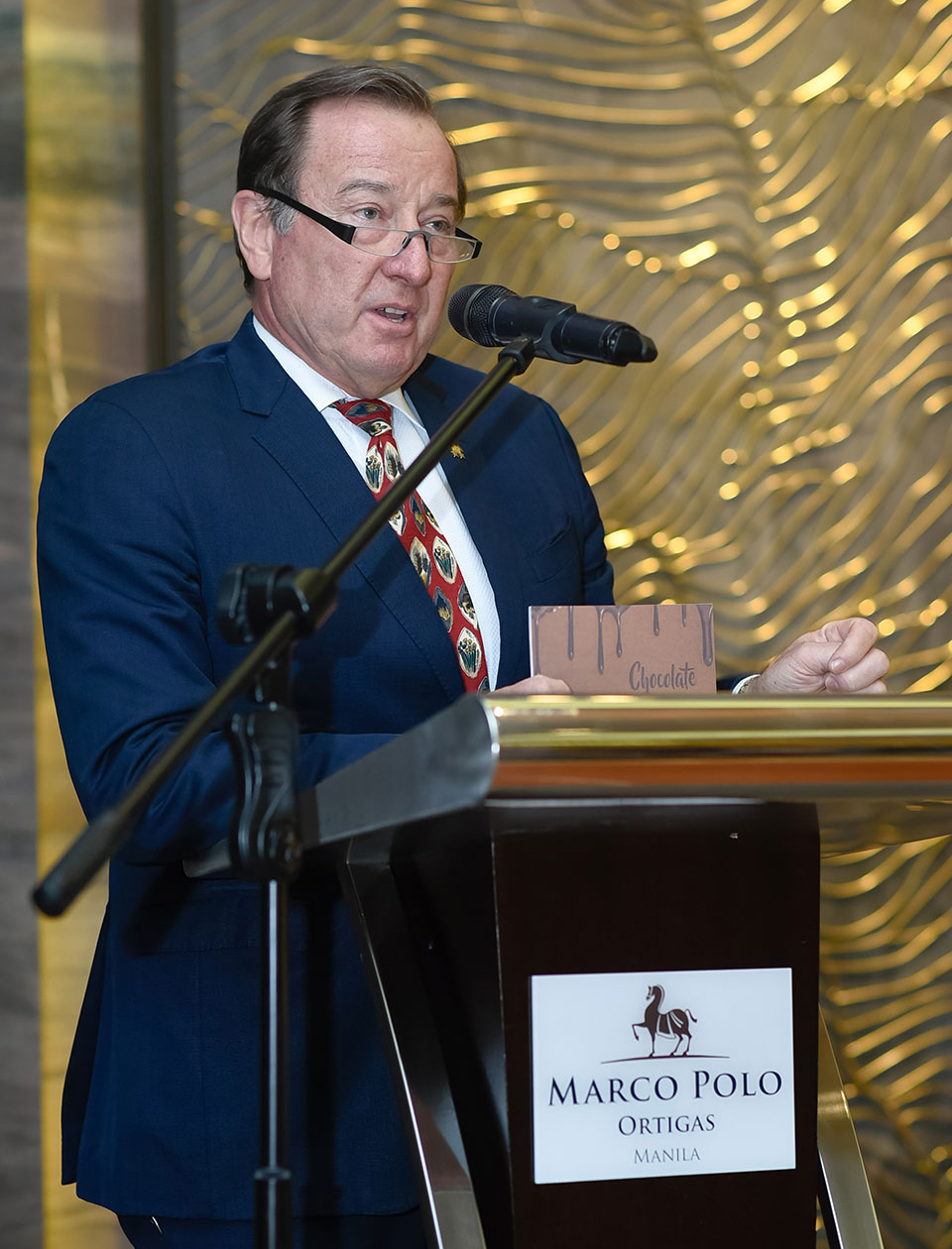 Marco Polo Ortigas' general manager Frank Reichenbach welcoming guests