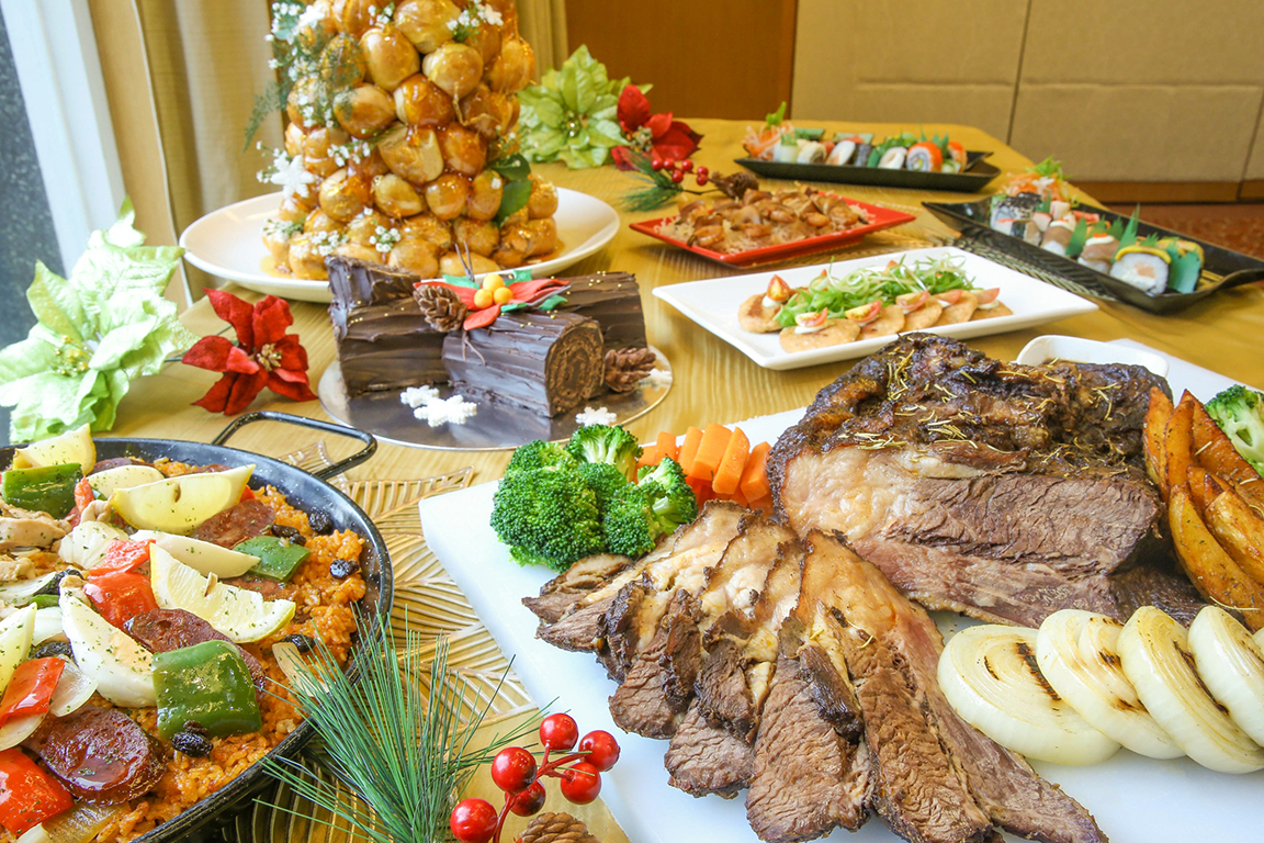 Part of the holiday buffet
