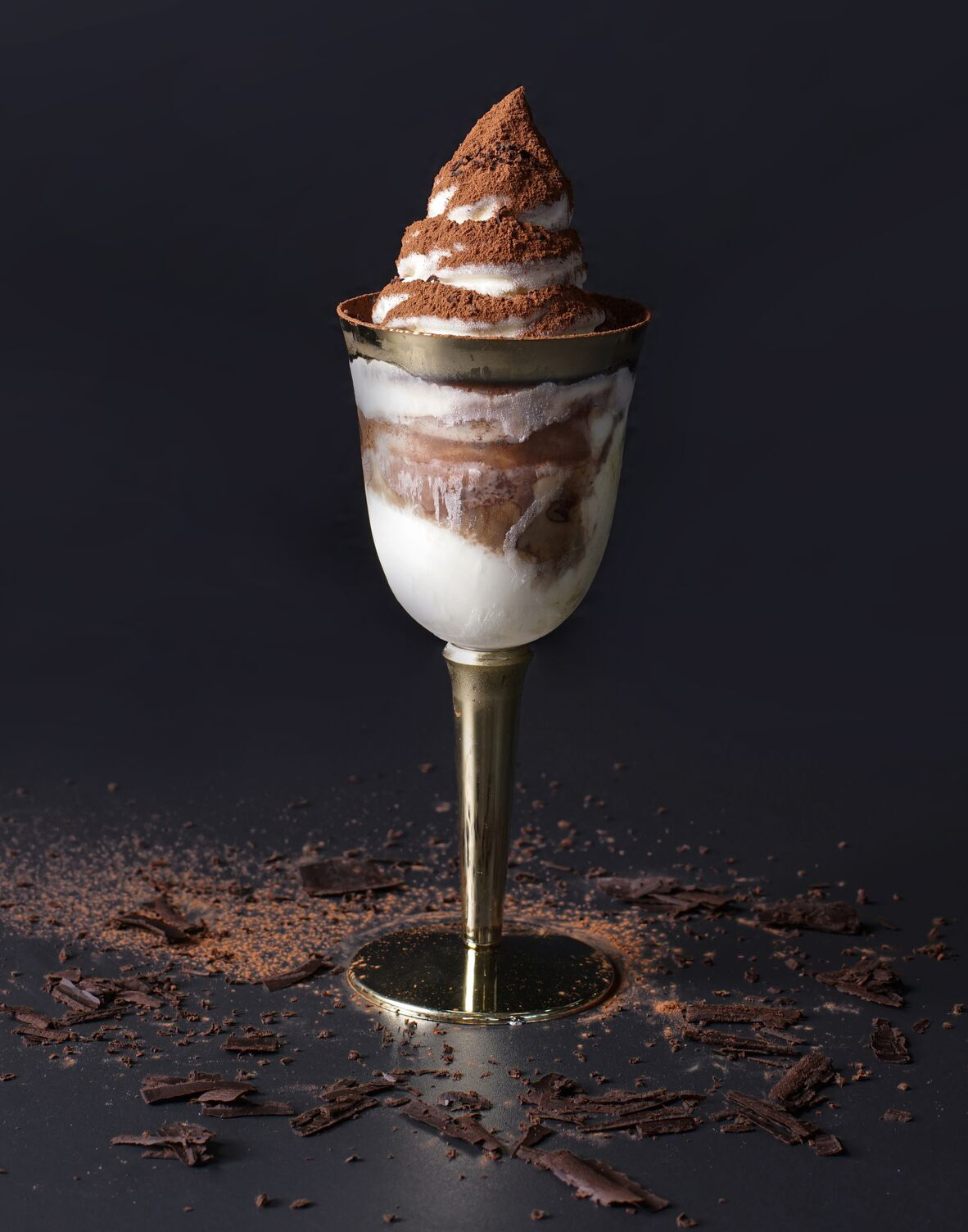 Kiss the Tiramisu's Original or Classic Tiramisu Soft-serve Ice Cream in a goblet