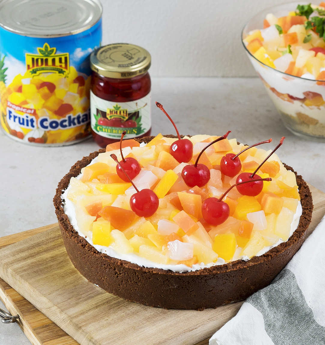 Jolly's No-bake Fruit Cocktail Pie