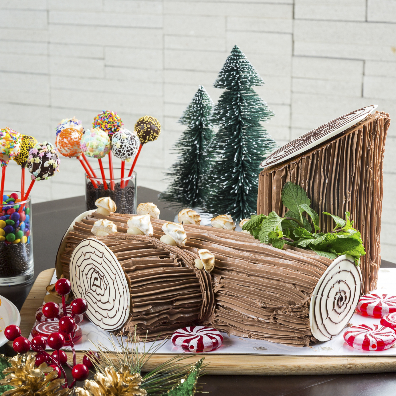 Yule Log Roll and Cake Pops from Richmonde Hotel Iloilo