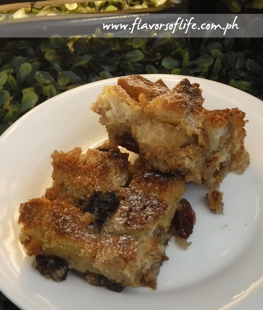 Bread Pudding with Dried Fruits and Nuts