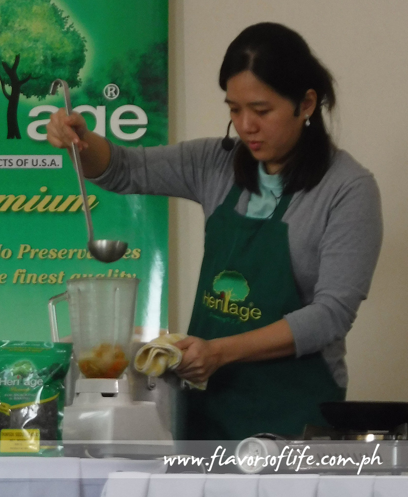 Chef Jo Gosiaco conducting the cooking and baking demo