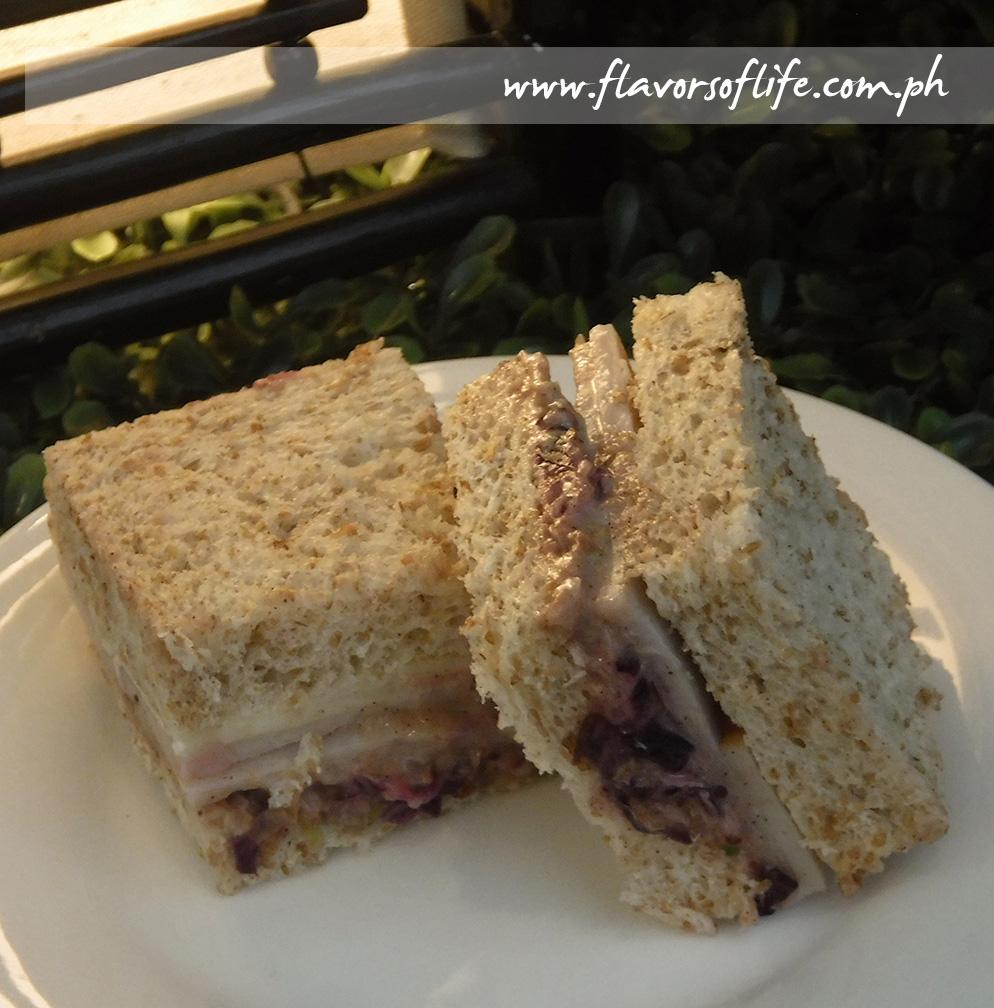 Turkey Sandwich with Cranberry Slaw