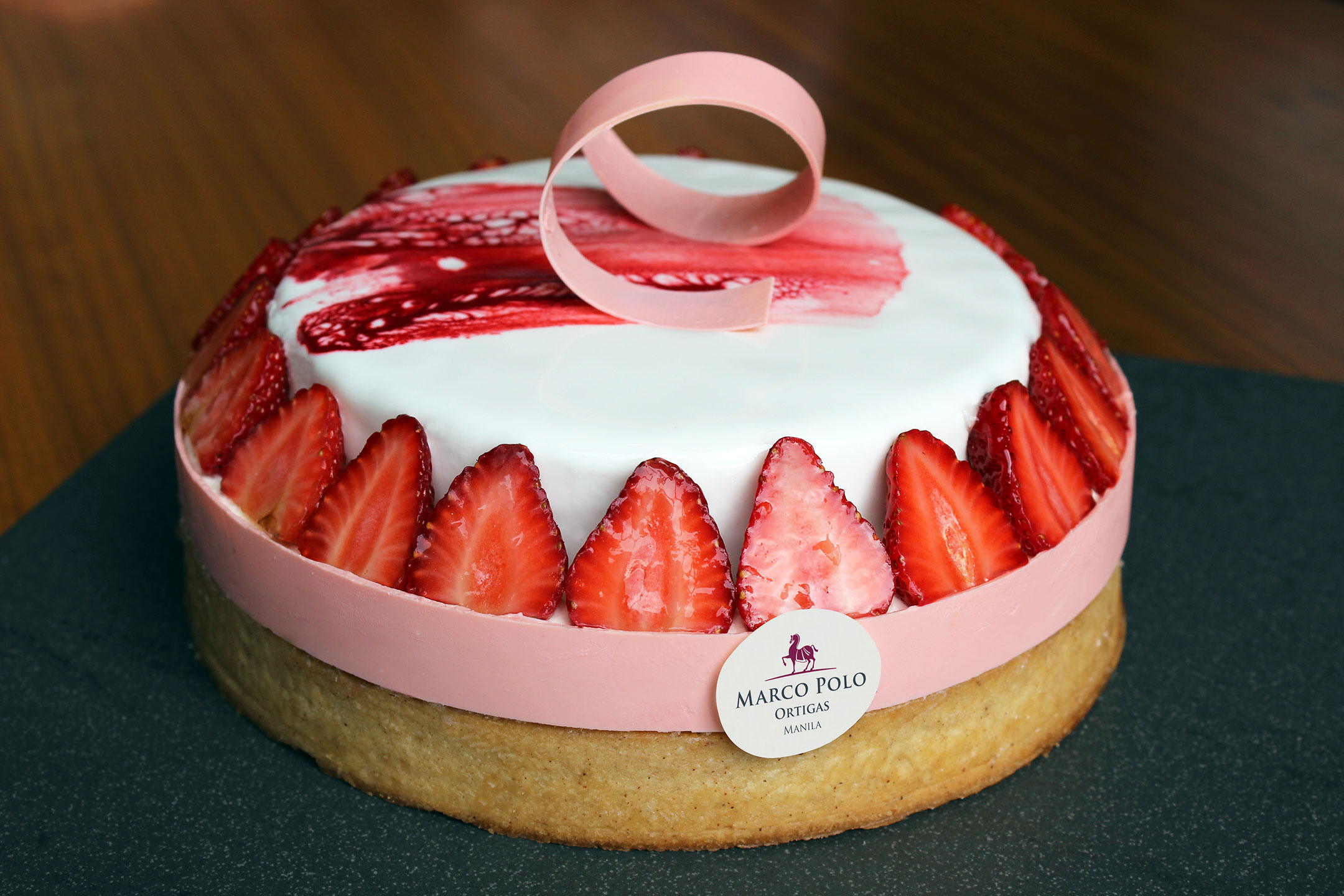 Big Strawberry Tart