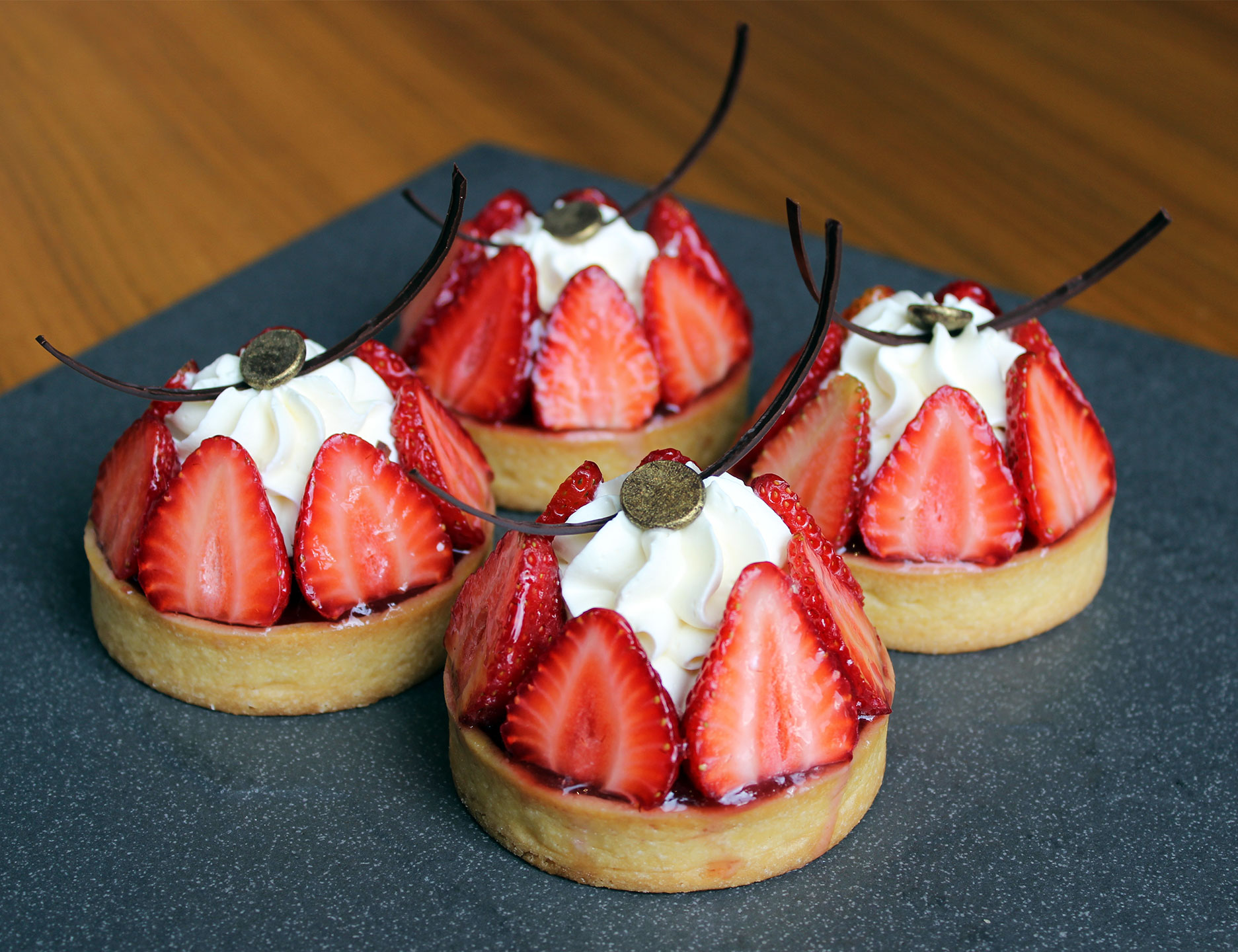 Strawberry Tarts for Valentine's Day, available at Marco Polo Ortigas' Cafe Pronto