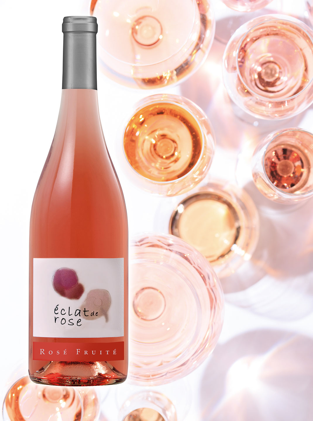 Wine of the Month, Eclat de Rose, available at Vu's Sky Bar and Lounge