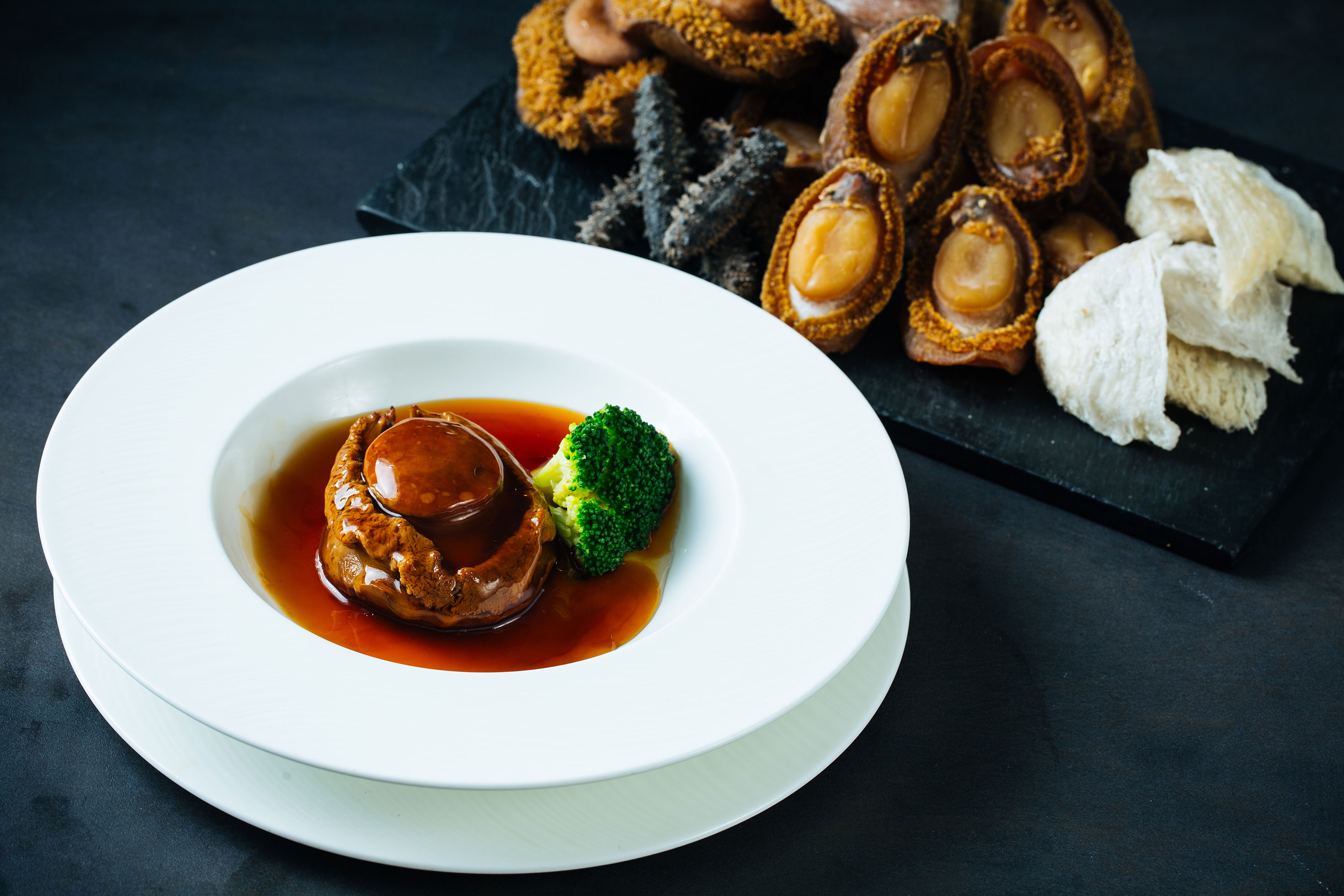 Braised Whole South African Abalone with Oyster Sauce
