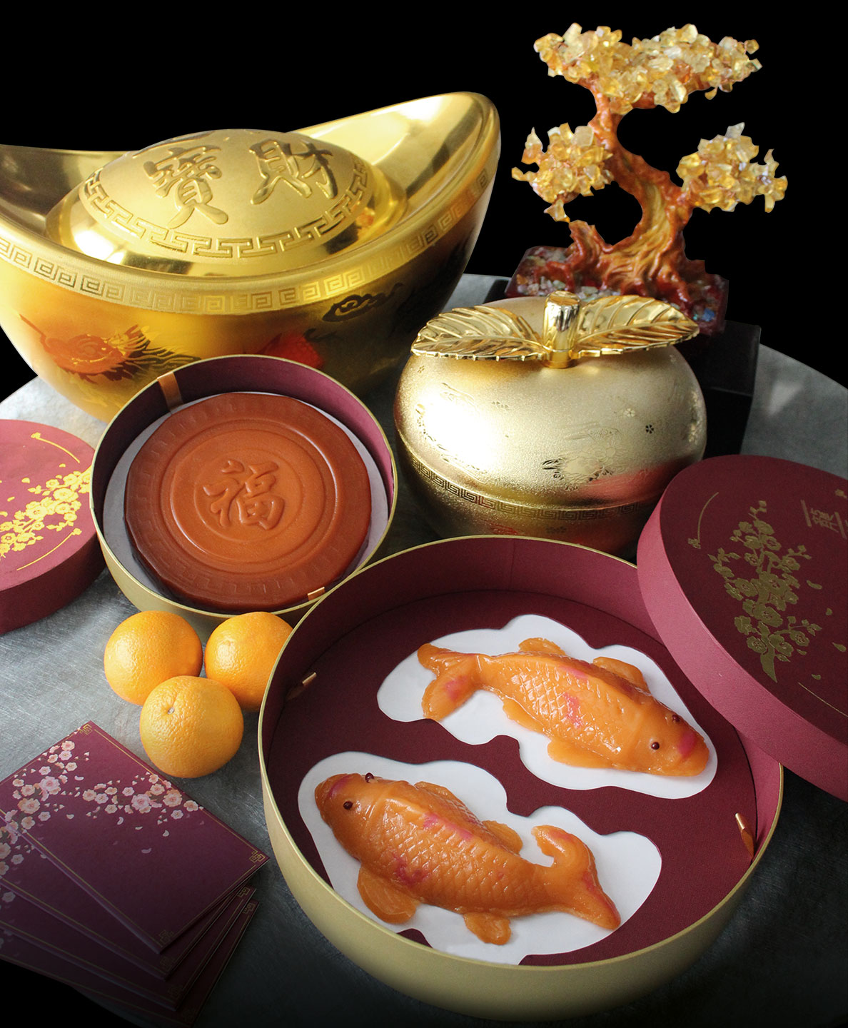 The two Nian Gao variants available at Marco Polo Ortigas Manila includes the Traditional Nian Gao and the Double Happiness Koi Nian Gao