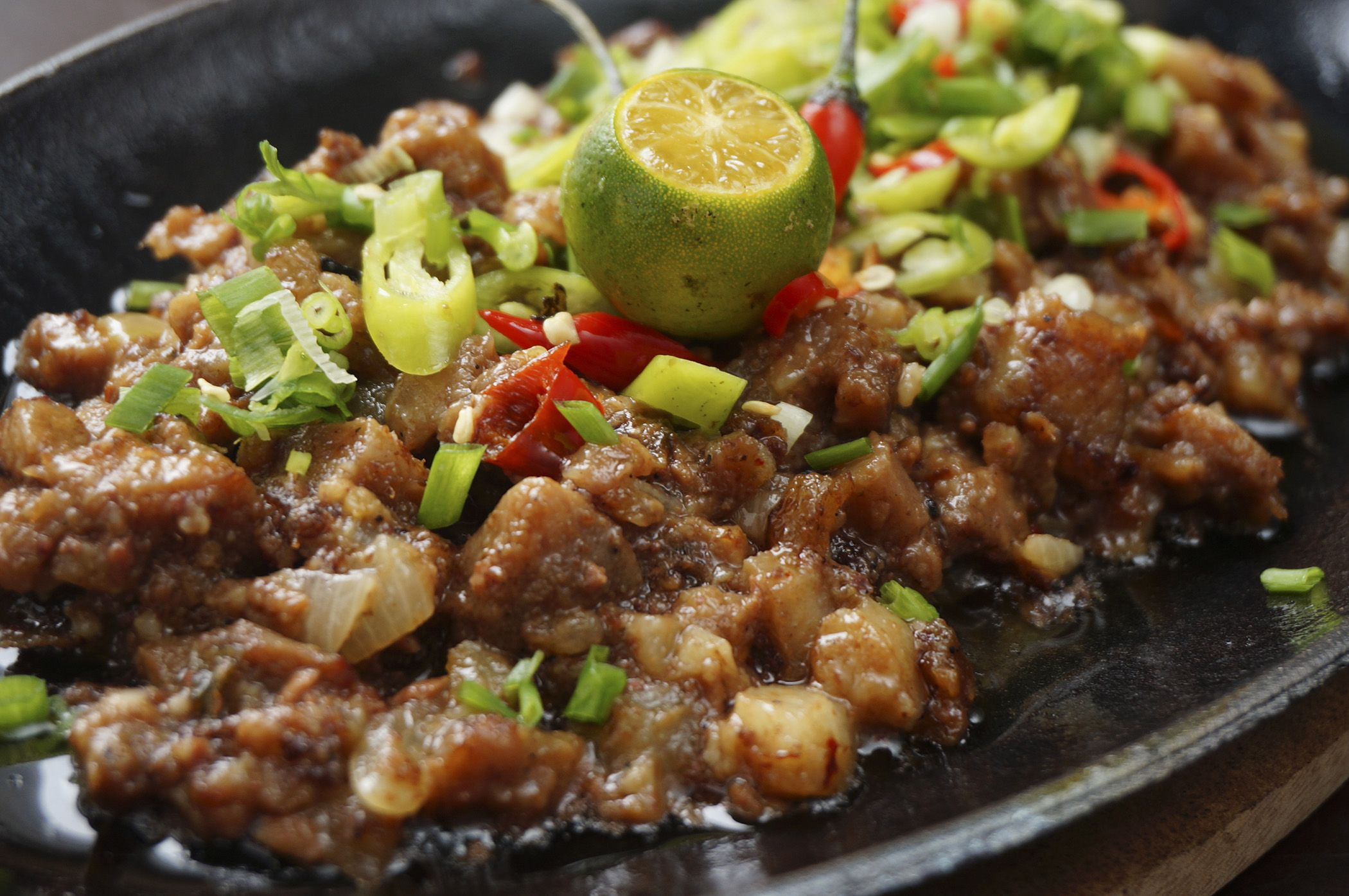 Sumptuous Sisig available at the restobar