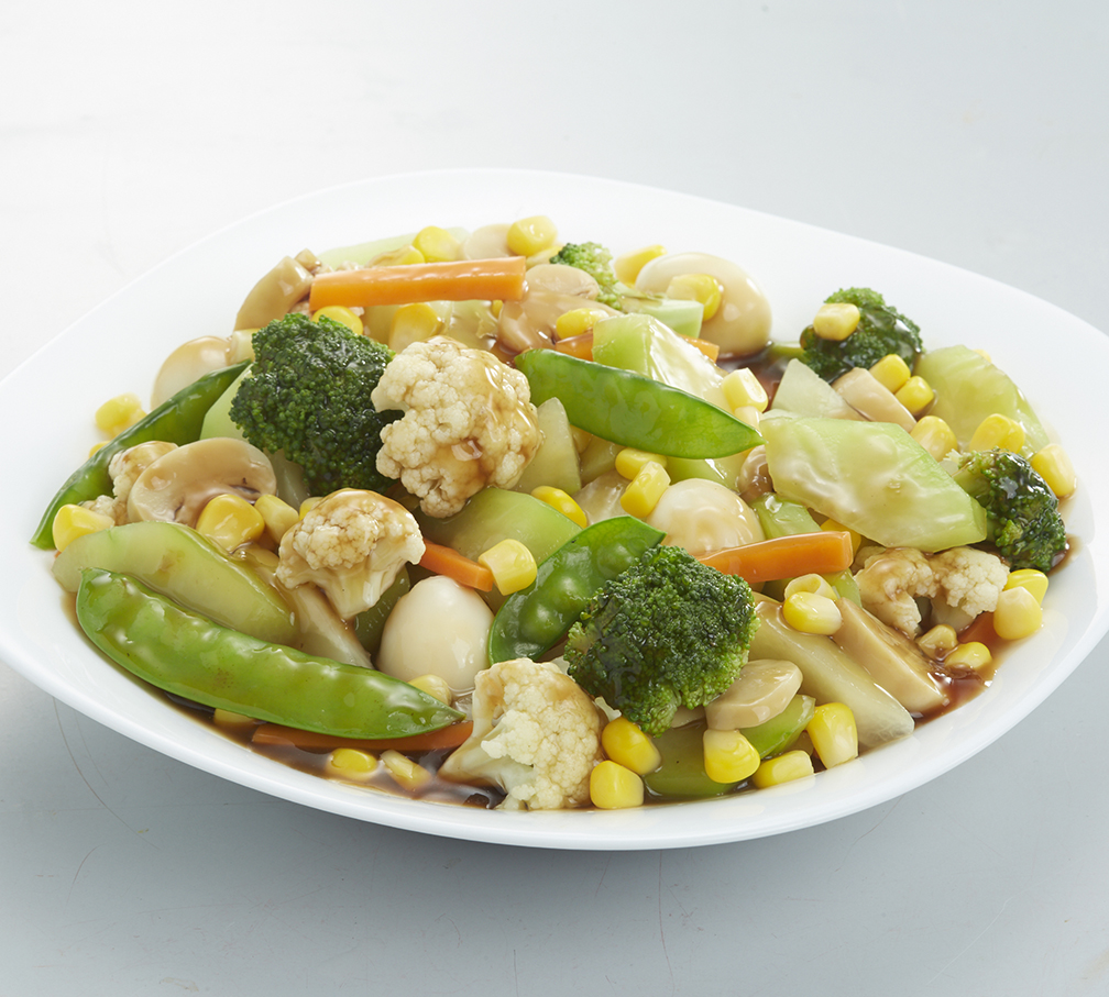 Chopsuey with Corn and Mushrooms