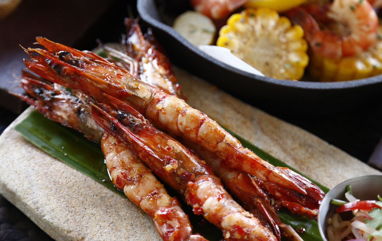 Indonesian Sambal Marinated Grilled Shrimps