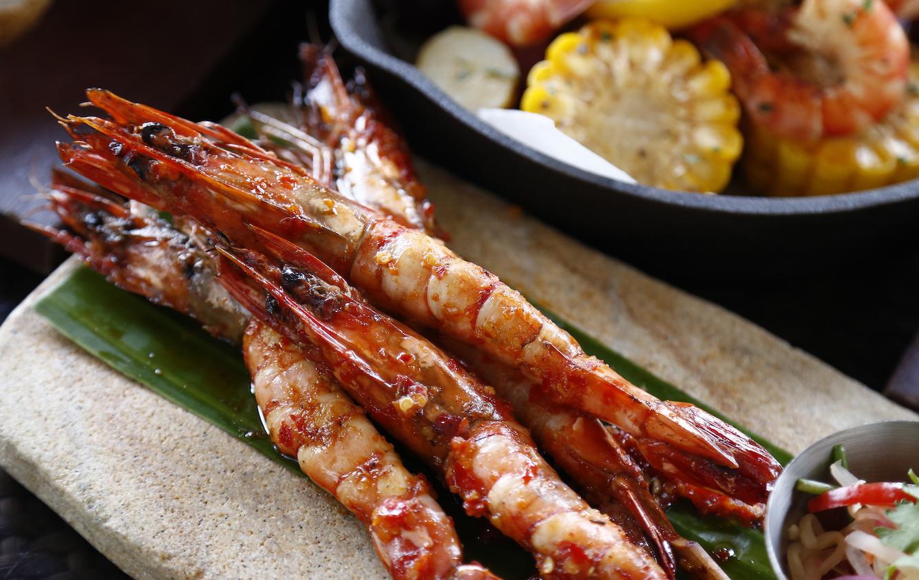Indonesian Sambal Marinated Grilled Shrimps
