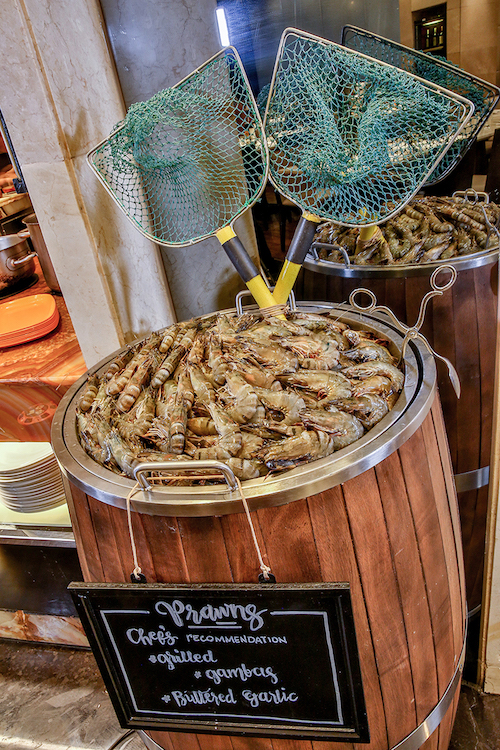 Selva shrimps form part of Marriott Cafe's buffet spread every Wednesday