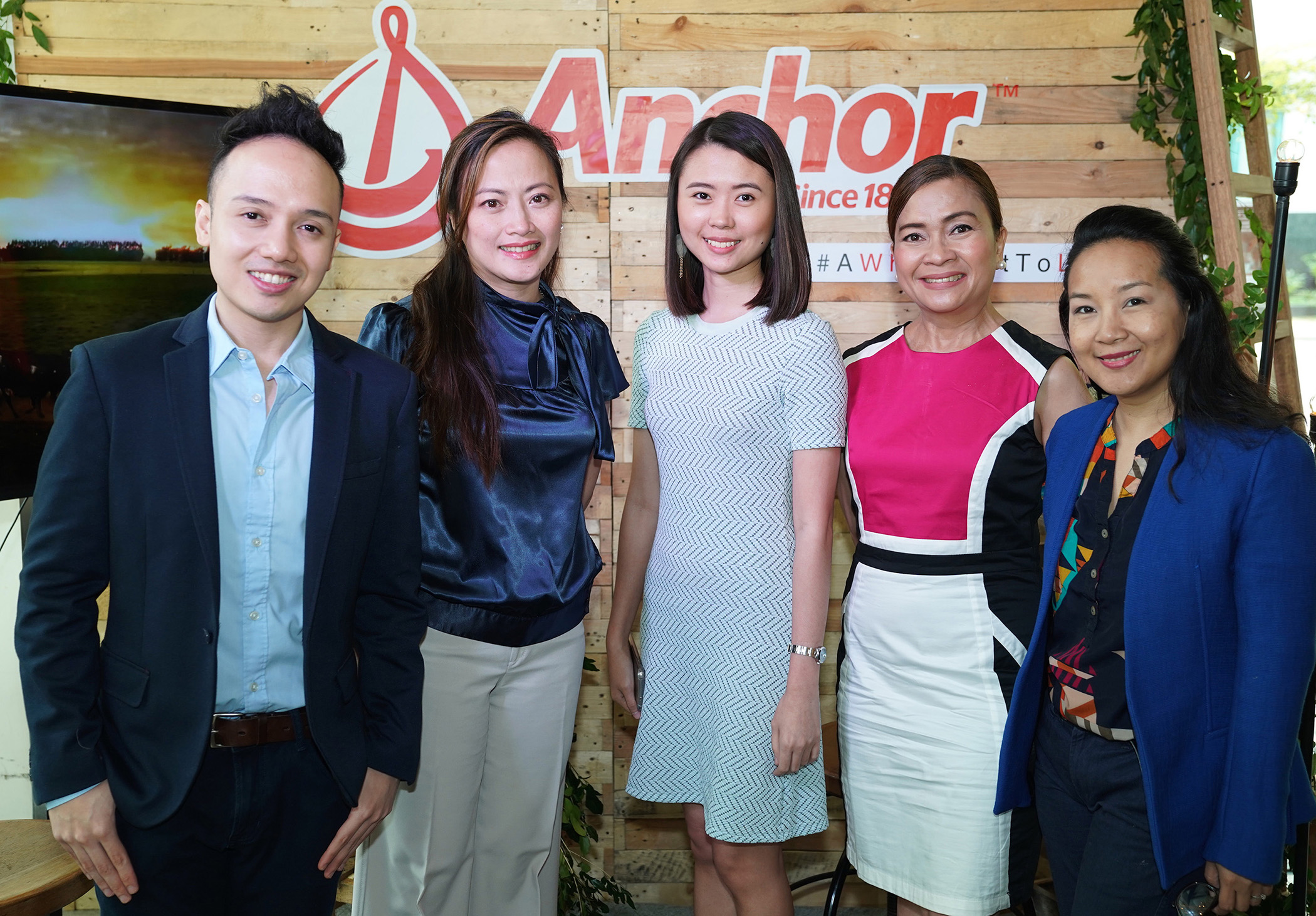 Fonterra Brands Philippines Inc.'s senior brand manager Chio Cebrero, marketing director Jasmin Magsajo, brand manager Rica Mateo, nutrition manager JV Salamat, and marketing consultant Katz Lobregat-Enriquez