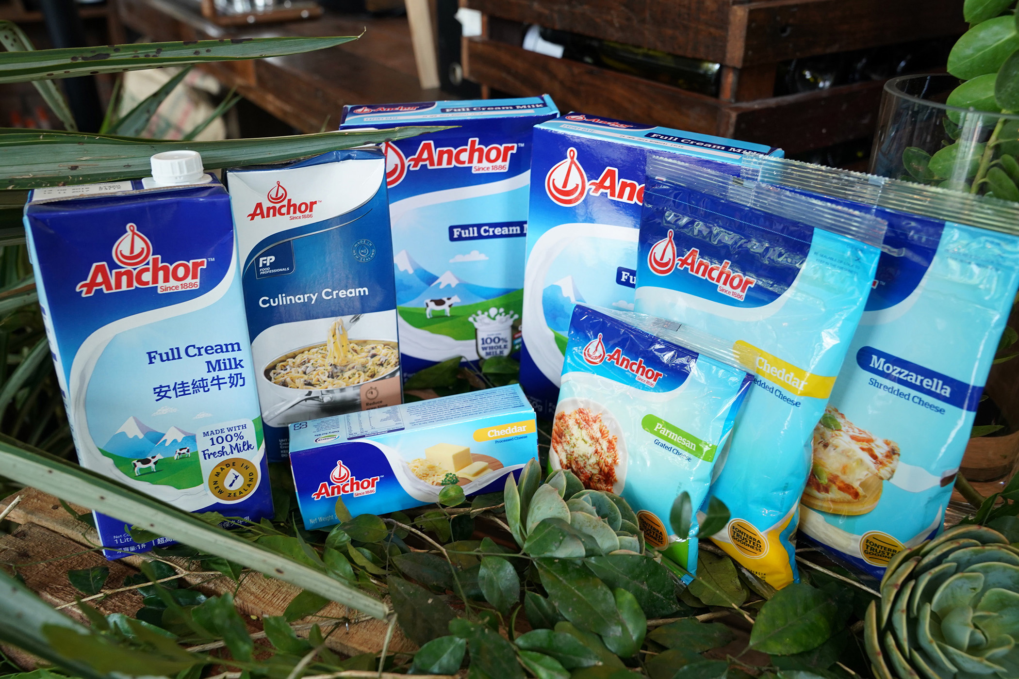 Anchor's wide range of dairy products