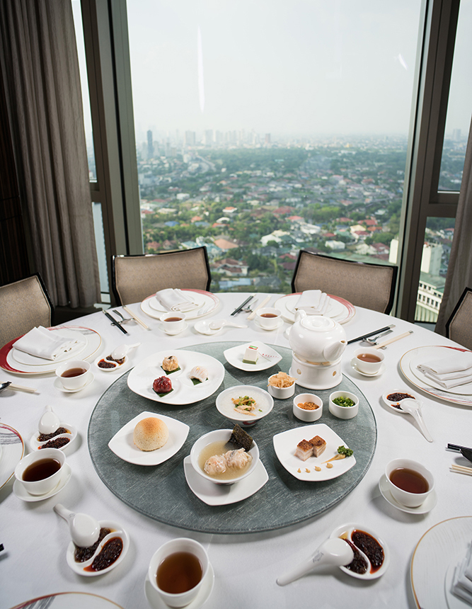 Experience authentic Chinese dim sum dining at Marco Polo Ortigas Manila's Lung HIn Cantonese Restaurant