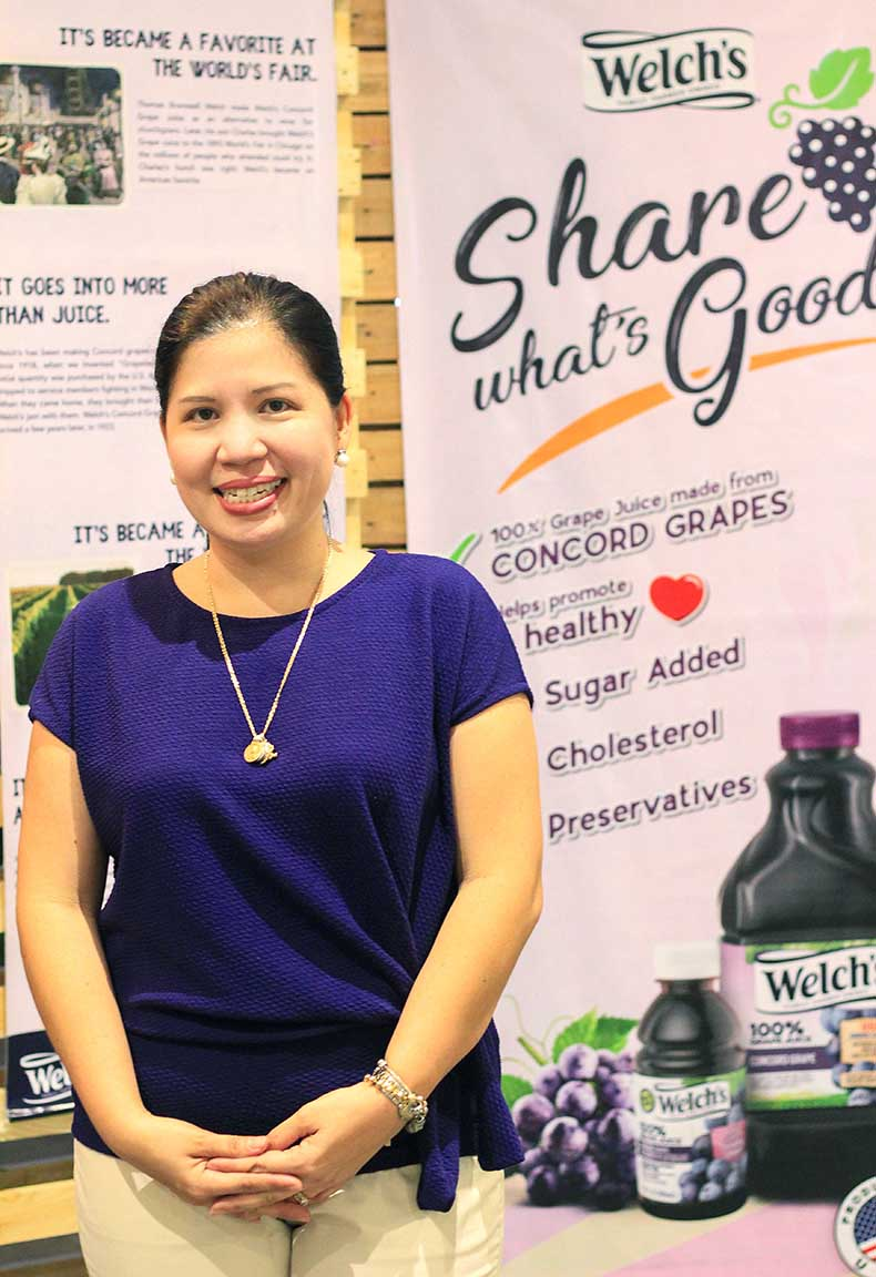 Erika Evaristo Rodriguez, VP-Marketing of Welch's Philippines