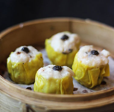 Steamed Pork Siomai with Truffle Sauce