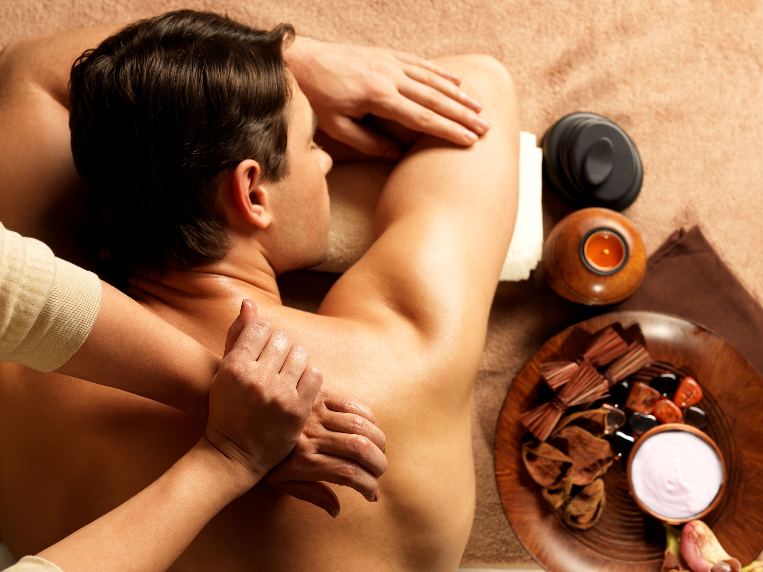 Let Dad enjoy a pampering 'Pure Bliss' massage on Father's Day